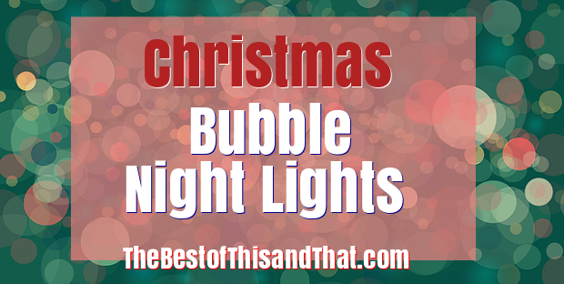 Cute Christmas Bubble Night Lights
