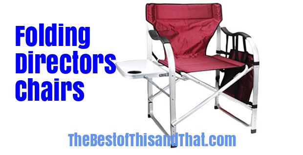 Folding directors chairs with side table reviews sale
