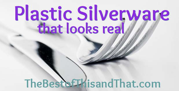 Plastic silverware that looks real for weddings