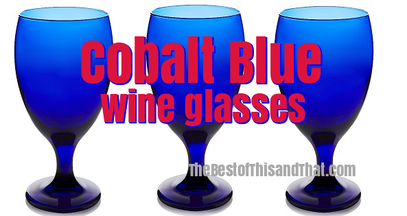 Stunning cobalt blue wine glasses and drinking glasses