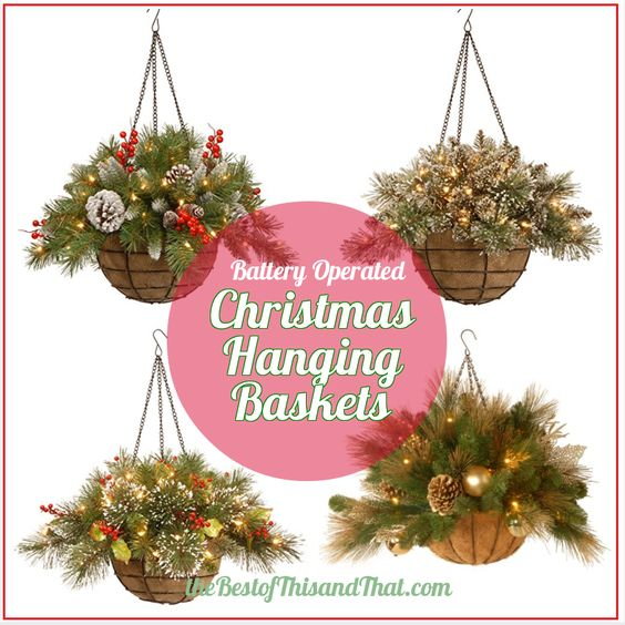 Christmas Hanging Baskets With Lights.Outdoor Christmas Hanging Baskets Euffslemani Com