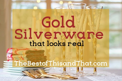Elegant gold silverware that looks real