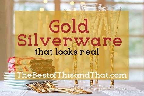 Elegant gold silverware that looks real