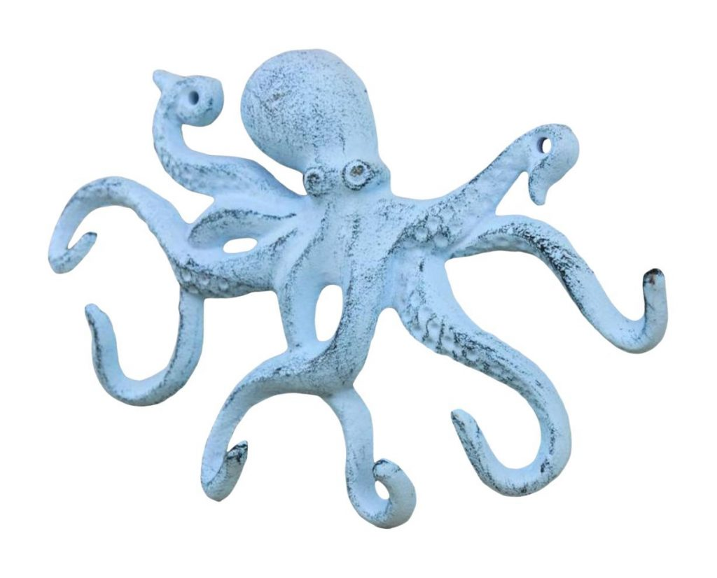 Octopus decorative wall hooks
