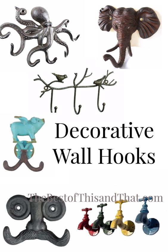 Unique Decorative wall hooks for your home