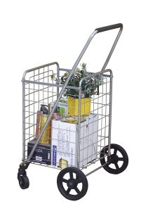 Wellmax portable folding shopping cart with swivel wheels