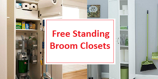 Portable free standing broom closets and cabinets