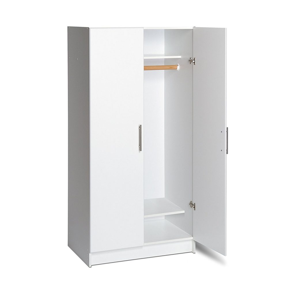 White Portable Broom Closet