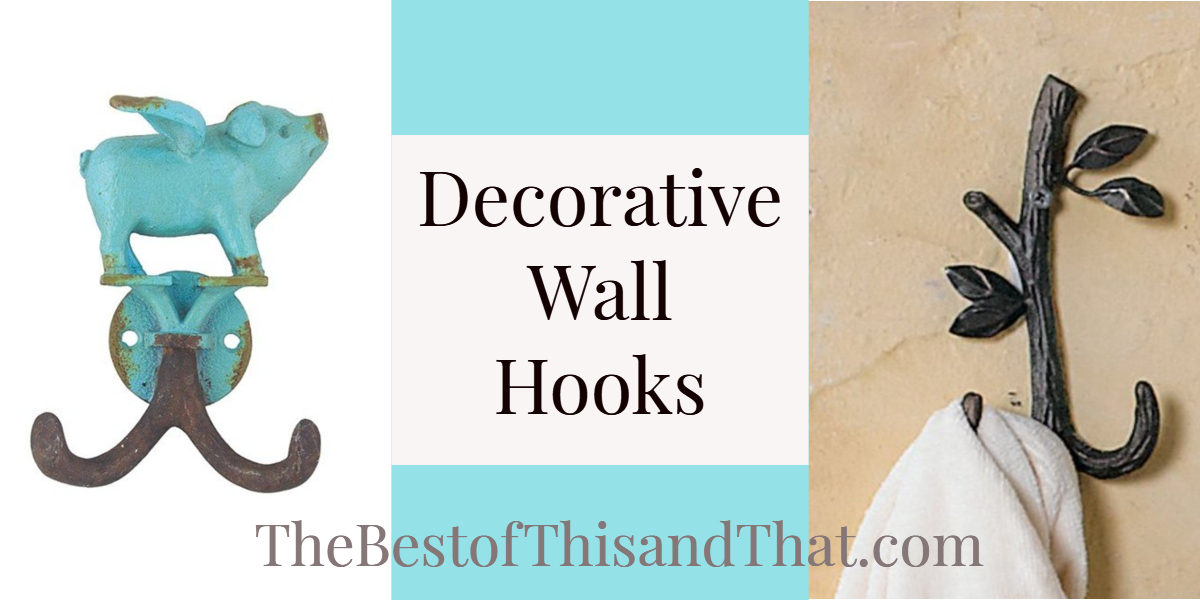 Unique decorative wall hooks for your kitchen laundry room bathroom or mud room