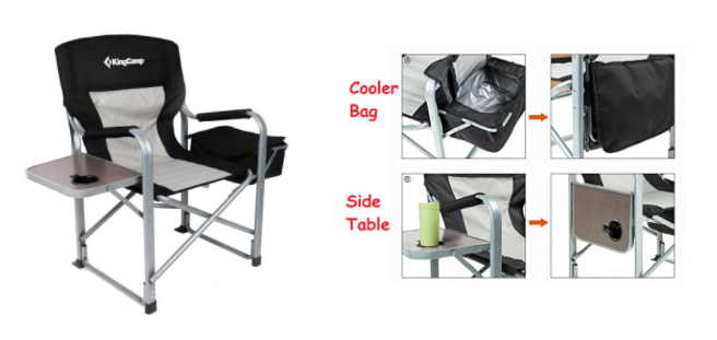 folding directors chair with side table and cooler2