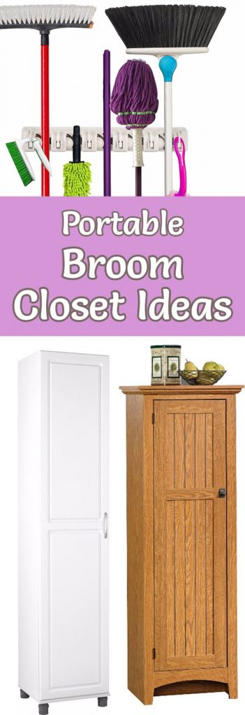Portable broom closets for the kitchen laundry room or garage