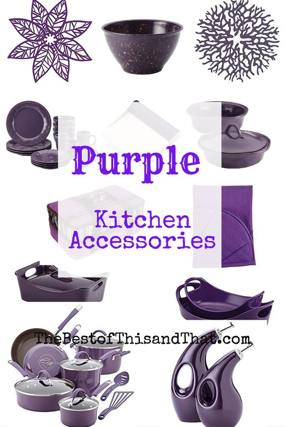 Purple kitchen decor and accessories