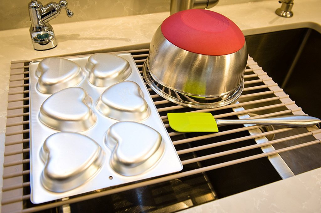 Best roll up over the sink dish drainer rack