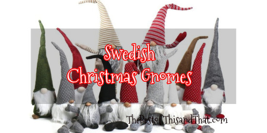 Felt Swedish Christmas gnomes